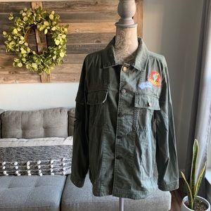 Mudd Utility Military Patch Jacket